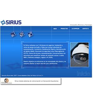 Sitio Web Sirius