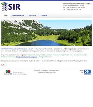 Sitio Web SIR