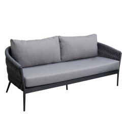 MUSES 2 SEATER SOFA CARBON ROPE A369B6