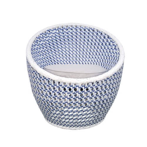 Salima swivel sofa CRISTAL 7 MM WIKER SHELL BLUE 800X800 1 2