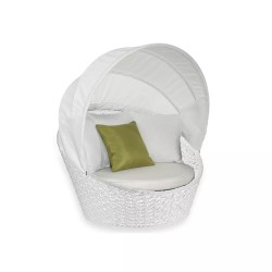PEACOCK MINI DAYBED L071 1 FLOWER ICE WHITE