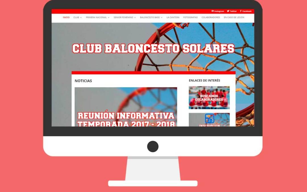 Diseño Página Web Deportiva Club Baloncesto Solares