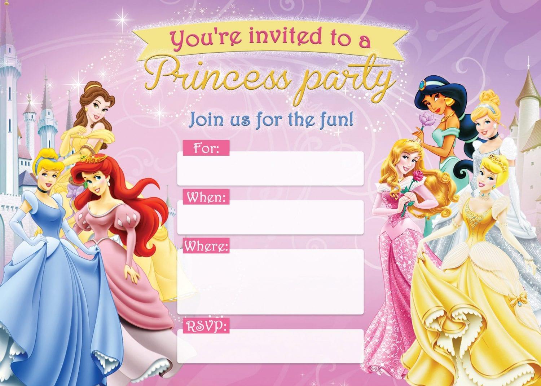 free printable disney princess birthday