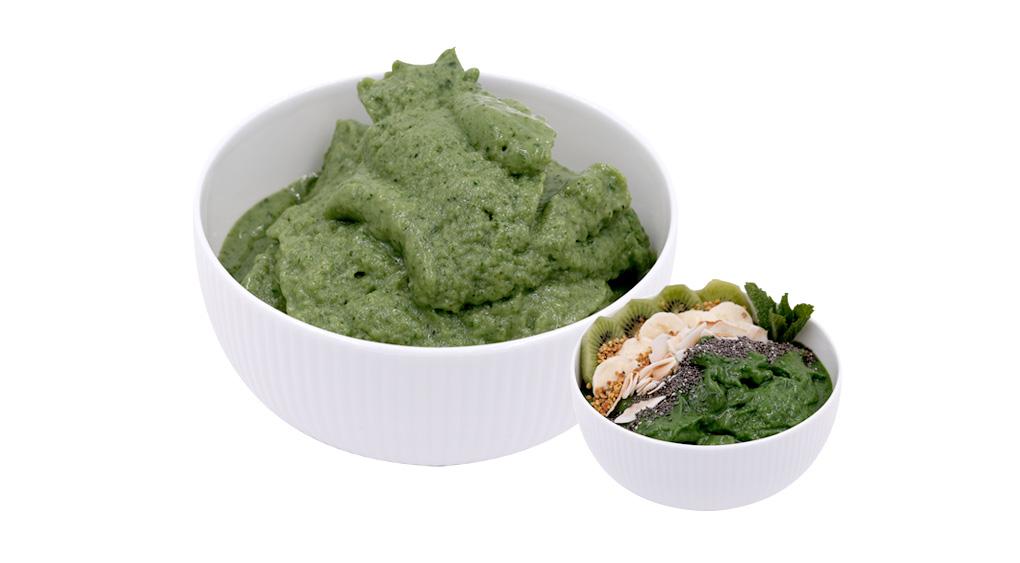 Smoothie Bowl Kale Espinacas Mango Congelado Disfruta