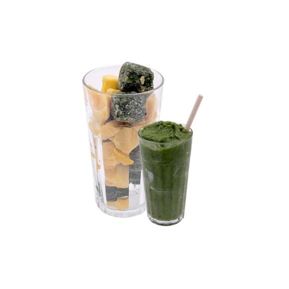 Catálogo de Fruta Congelada Zumo Kale Espinacas Mango Disfruta