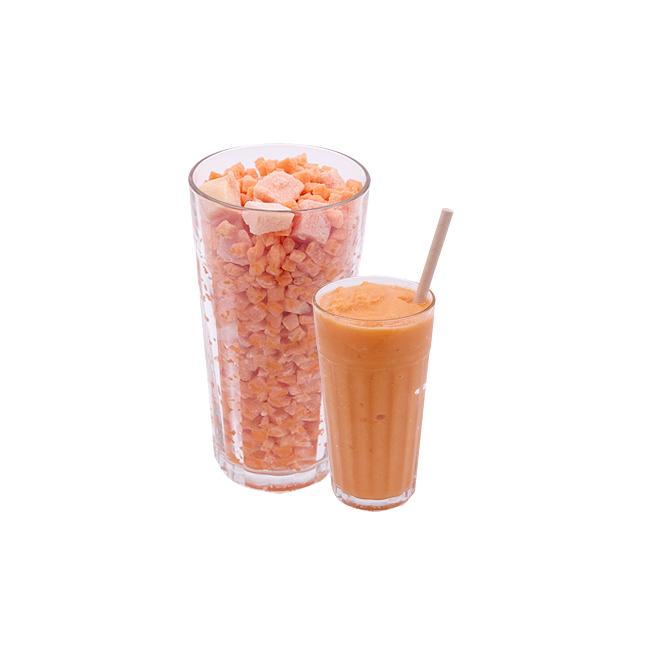 Smoothie Zanahoria Mandarina Piña Jengibre Disfruta