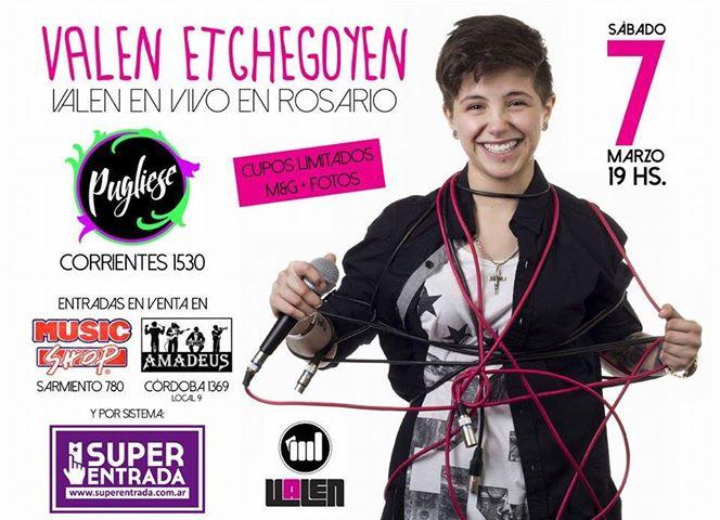 Valen Etchegoy en Rosario