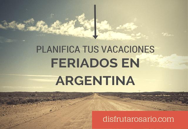 Feriados 2016 en Argentina