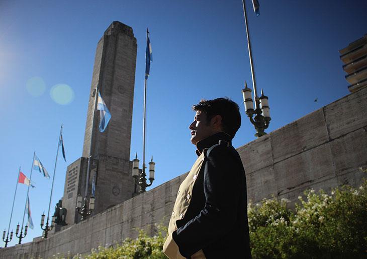 Recorrido nocturno por el Monumento con Pablo Rago