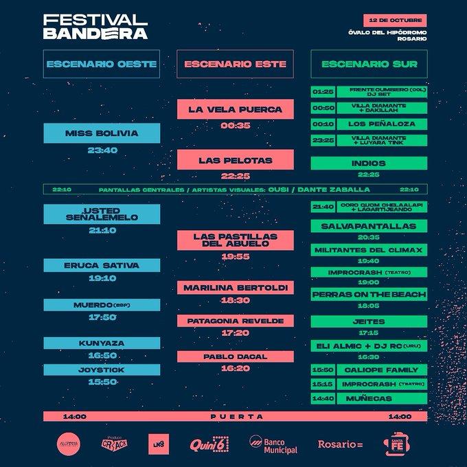 Festival Bandera: las mejores bandas de rock en Rosario