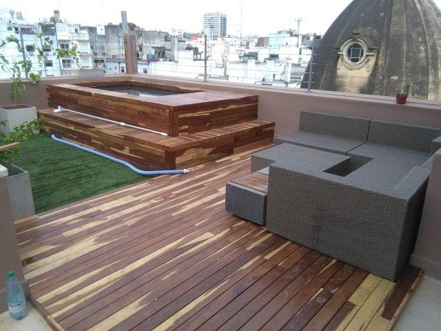 Como construir una pileta en terrazas pequeñas