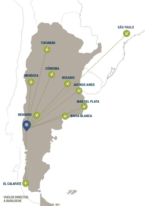 Conexiones aéreas aeropuerto Bariloche