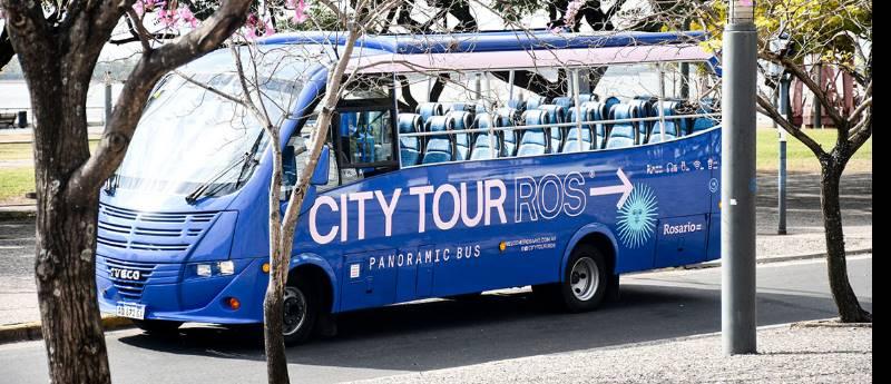 Bus turístico en Rosario