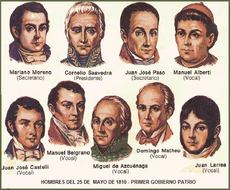 Primer gobierno patrio integrantes