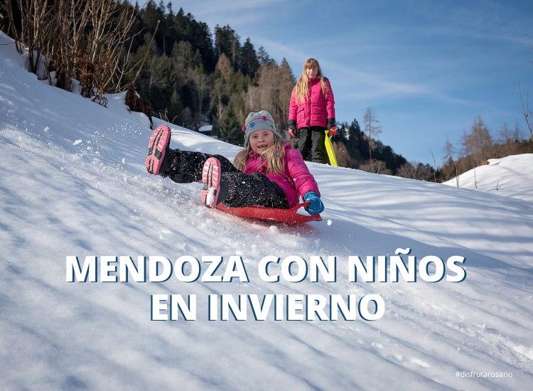 Mendoza con niños en invierno