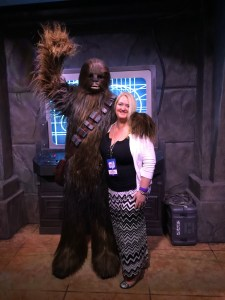 Elle with Chewbacca