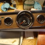 New cluster bezel instrument cluster restortion