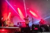 Det var et særdeles heftig lysshow under Ulver-konserten. Foto: Johannes Andersen
