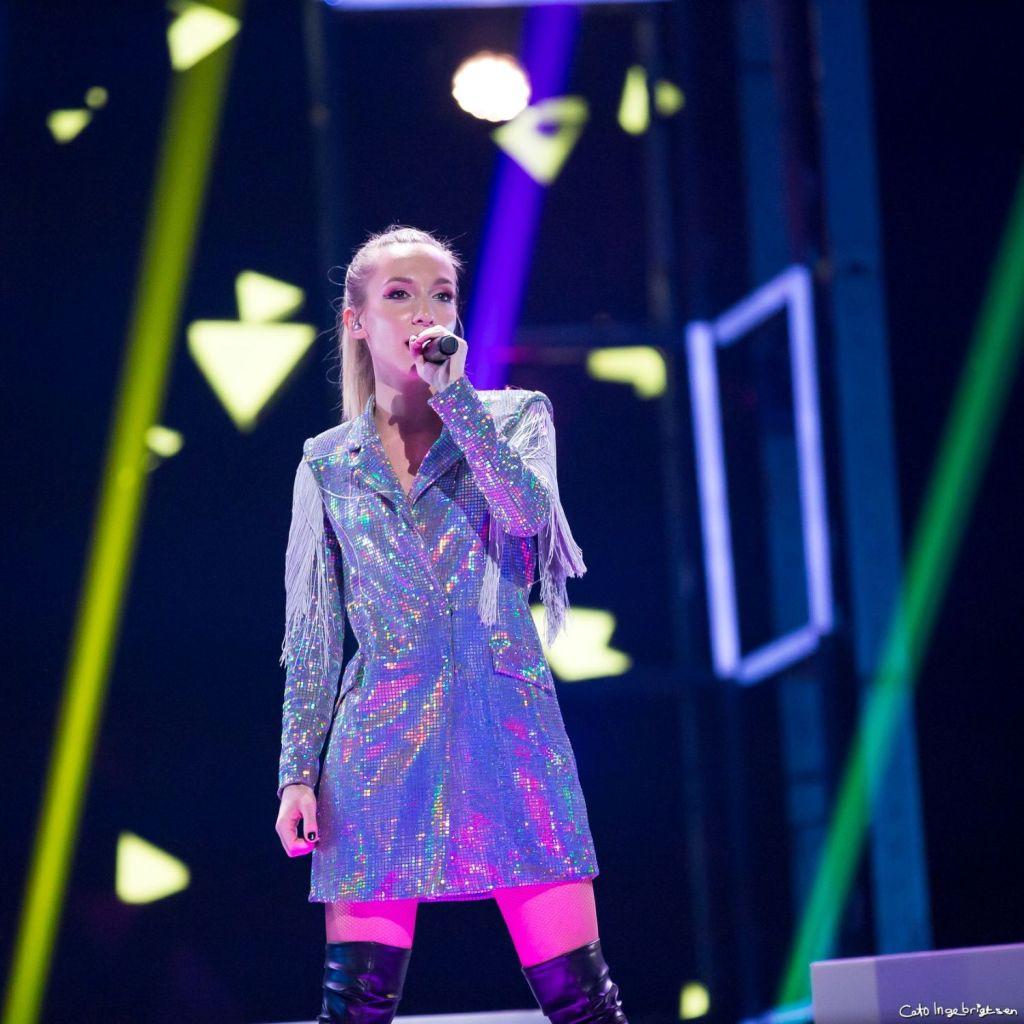 Liza Vasailieva live fra ESC. Foto: Cato Ingebrigtsen