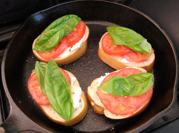 Caprese grilled cheese sandwiches