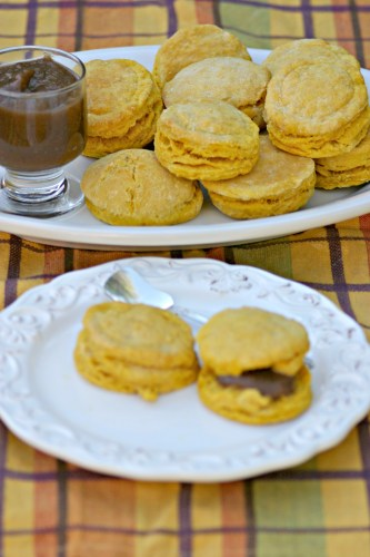 Pumpkin Biscuits with Apple Honey Butter