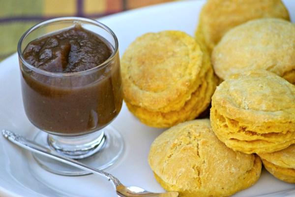 Pumpkin Biscuits Apple Butter