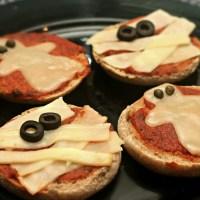 Halloween Treat Recipes - Ghost & Mummy Pizzas