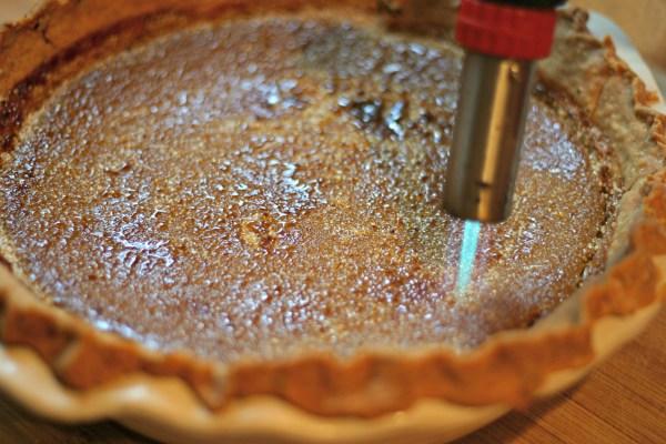 brulee torch pumpkin pie