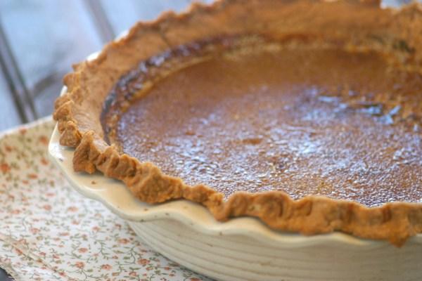 pumpkin maple brulee pie