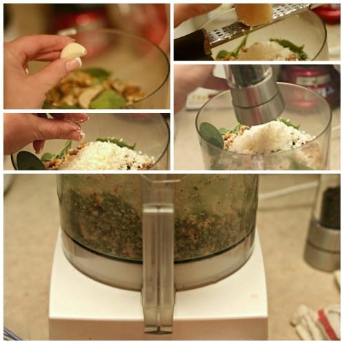Sage Pesto collage