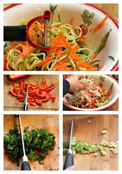 Chop veggie collage