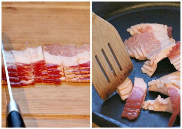 chop bacon