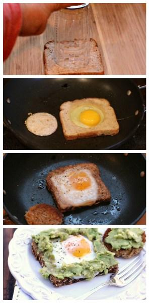 avocado egg in a hole toast