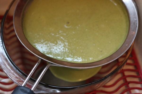 sieve strain asparagus soup