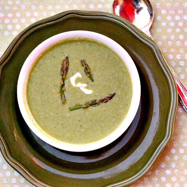 asparagus spinach coconut milk soup