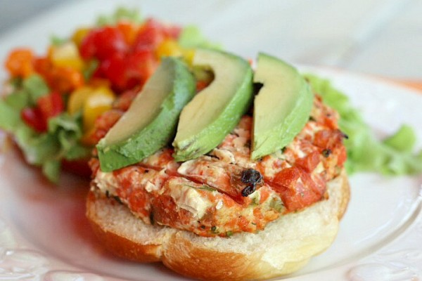 Salmon Burgers with Hatch Chiles