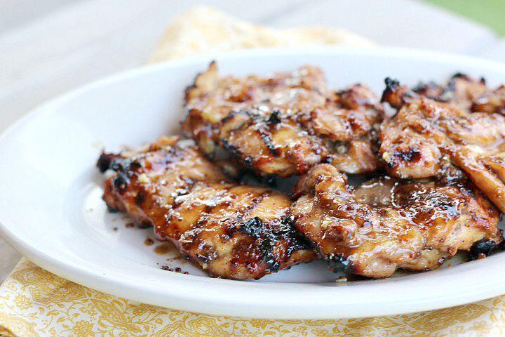 Grilled HOney mustard chicken breasts