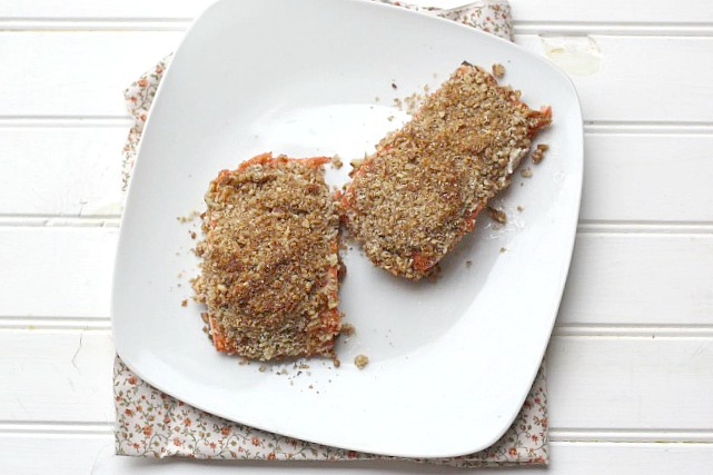 Pecan Crusted Steelhead Trout (or Salmon)