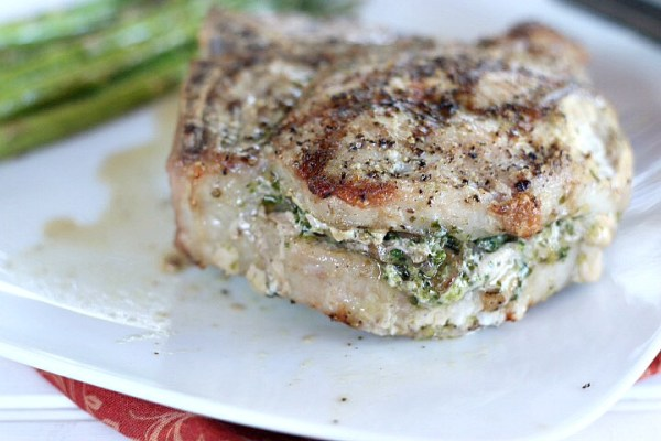 Stuffed Porterhouse Pork Chops