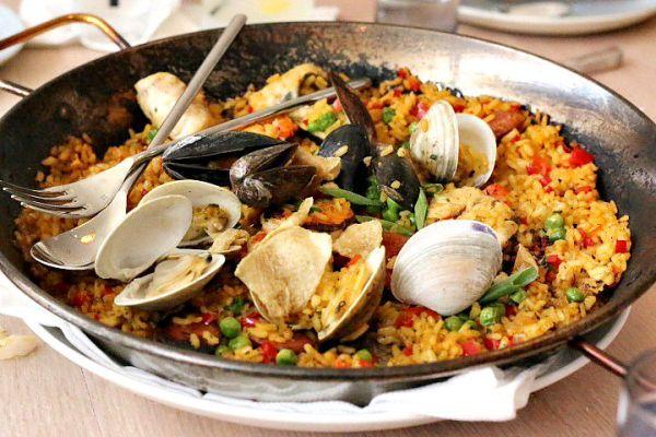 Seafood Paella for Two The Drake Oklahoma City OKC