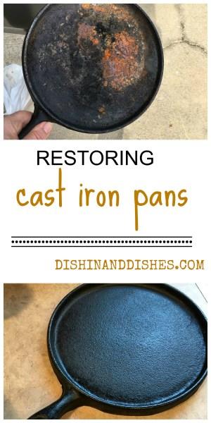 restore cast iron pots pans