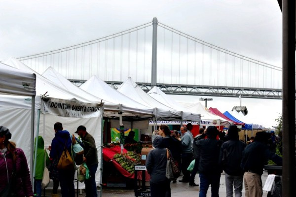 Farmers Market Ferry Building Bay Bridge San Francisco