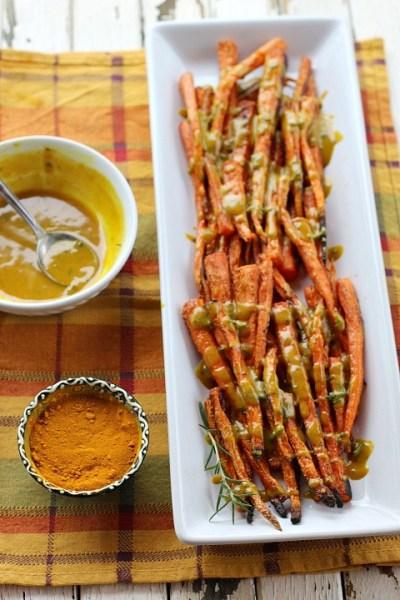 Tahini Turmeric Roasted Carrots 4