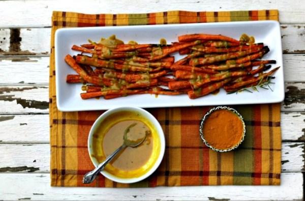 Turmeric Tahini Roasted Carrots 2