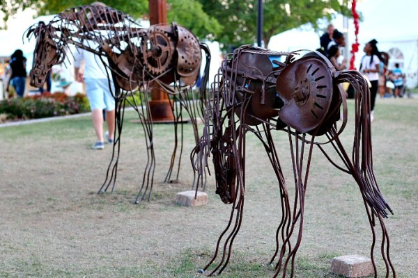 metal sculpture okc arts festival