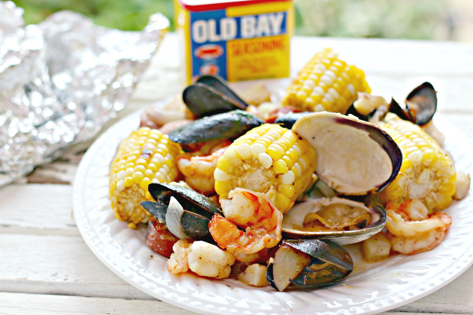 seafood in foil on grill recipe