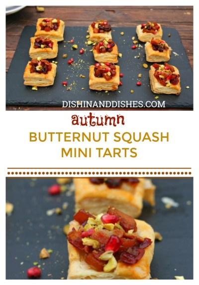 Autumn Butternut Squash Mini Tarts - Dishin & Dishes