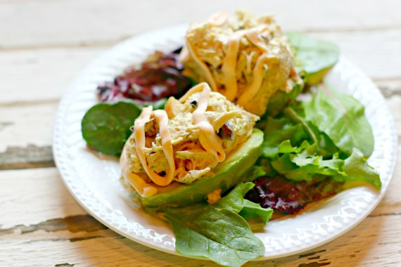 Curried Chicken Salad Avocado Cups