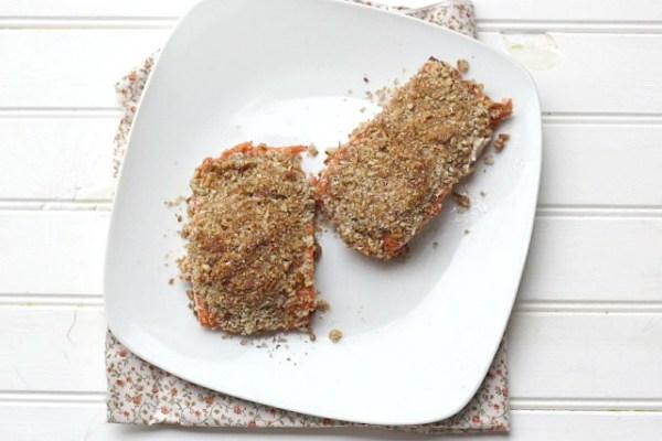 Pecan Crusted Steelhead Trout or Salmon - Dishin & Dishes