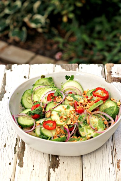 Thai Cucumber Salad - Dishin & Dishes
